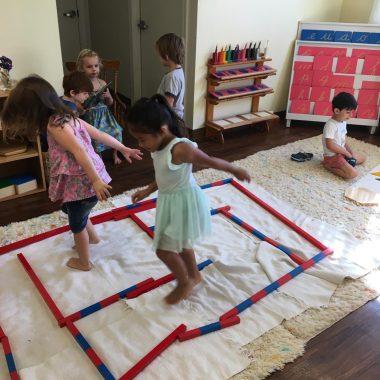 Children in classroom working on activities